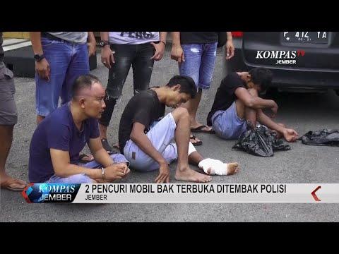 2 Pencuri Mobil Bak Terbuka Ditembak Polisi