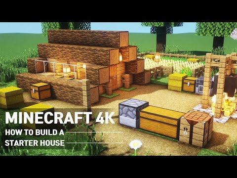 Ultimate Minecraft 4k STARTER HOUSE With Everything You Want To Surviveal : Minecraft Tutorial