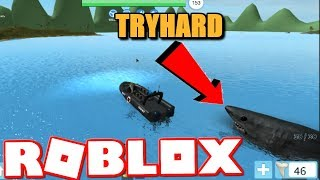 provare CRAZY SHARK duro cerca di uccidere me... * ft. Commando BUB * (Roblox Sharkbite)