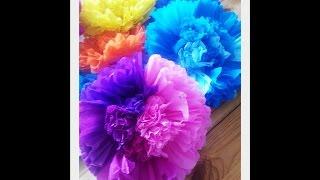 Большие цветы из бумаги. Как сделать