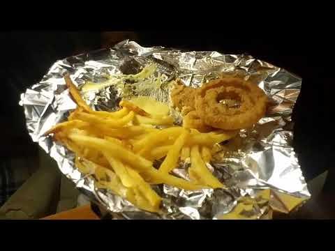 Fries, onion rings, gardein chicken tenders mukbang