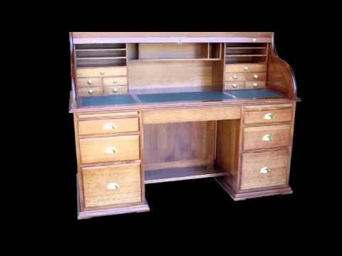 Lyon Furniture - Solid Timber Roll Top Desks Slideshow
