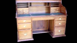 Lyon Furniture - Solid Timber Roll Top Desks Slideshow