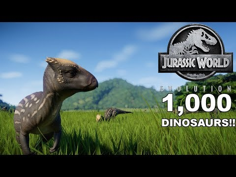 1,000 DINOSAURS IN 1 PARK!? HOW MANY HOMALOCEPHALE'S FIT INTO A PARK IN JURASSIC WORLD: EVOLUTION!