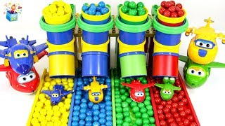 Learning Color SuperWings Gum Ball Slide play video for kids