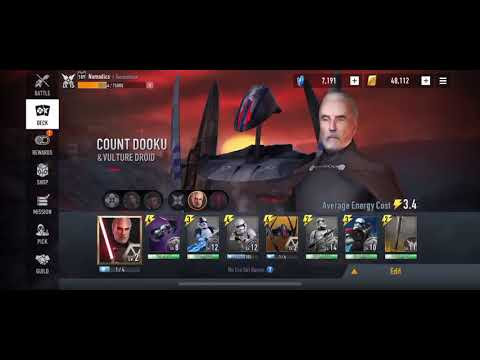 Star Wars: Force Arena - COUNT DOOKU high skill cap deck?