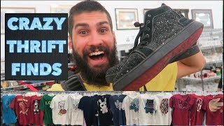Thrifting Goodwill RED BOTTOMS! Found 20 Limited Edition Shirts!!! Best Trip To The Thrift ...