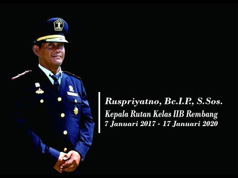 Pesan Kesan Harapan Petugas Rutan Rembang kepada Kepala Rutan Rembang 2017 - 2020 Ruspriyatno.