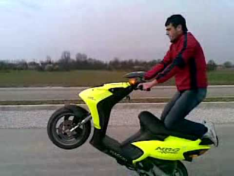 piaggio nrg 50 wheelie - youtube