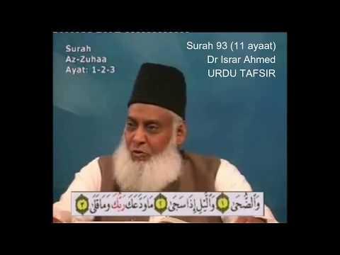 93 Surah Duha Dr Israr Ahmed Urdu