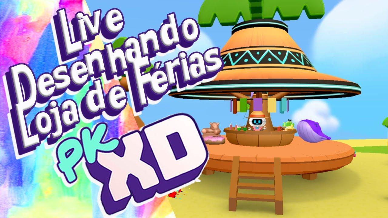 Live: Como Desenhar Loja De Férias Do @PK XD