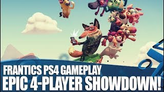 Frantics PS4 Gameplay - Epic 4-Player Showdown!
