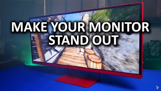 Badass Monitor Painting Guide - LG 34UM67 FreeSync Gaming Monitor