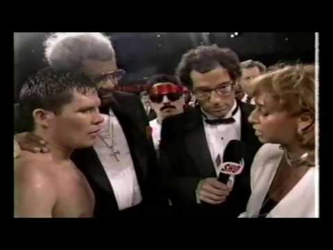 Funny Hector Comacho at Julio Cesar Chavez Frankie Mitchell fight, post fight interview