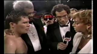 Funny Hector Camacho at Julio Cesar Chavez Frankie Mitchell fight, post fight interview