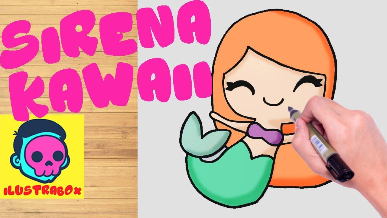Como Dibujar A Sirena Kawaii