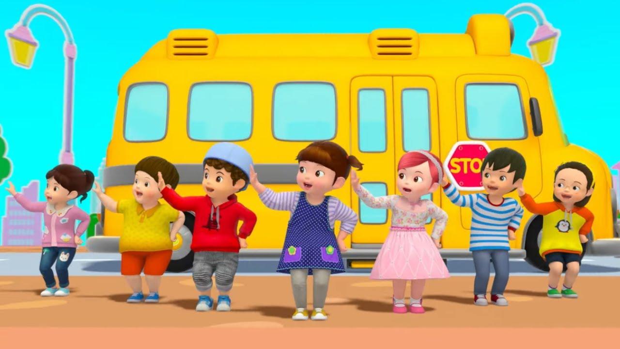 The Wheels on The Bus   Nursery Rhymes & Kids Songs   Kongsuni English   Kongsuni and Friends