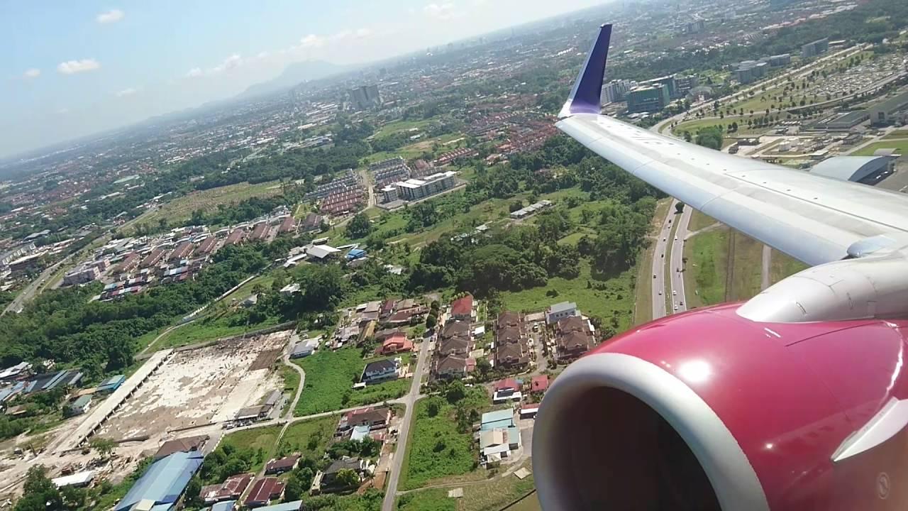 160629 Malindo Air Od1601 Kuching Kuala Lumpur Take Off Youtube