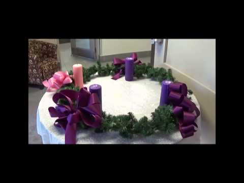 Catholicity:  Advent Wreath in School Foyer