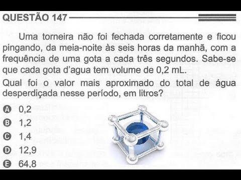 ENEM 2013/2014 QUESTÃO COMENTADA E RESOLVIDA 147  (PROVA CINZA 2° DIA)