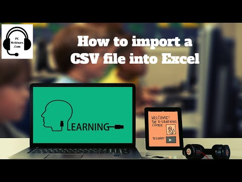 How to import a CSV file into Excel 2007, 2010, 2013, 2016 tutorial for beginners - comma delimited
