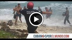 As escapa un grupo de balseros cubanos de la polica luego de llegar a  Mxico
