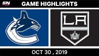 NHL Highlights   Canucks vs. Kings – Oct. 30, 2019