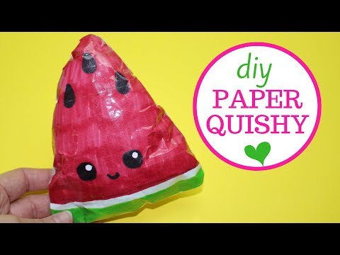 How to Make a Paper Squishy | Watermelon Paper Squishy