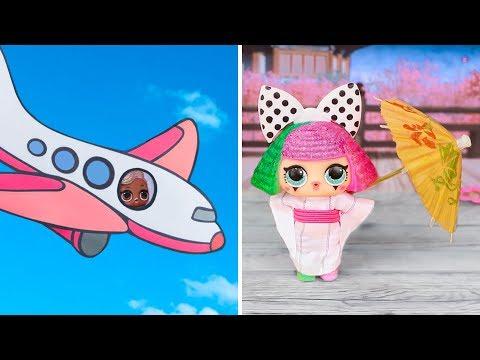 15 лайфхаков и поделок для путешествий куклы ЛОЛ!