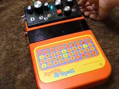 circuit bent speak and spell vintage glitch synth w lfo part ii rh youtube com