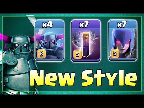 TH12 Strategy 2019! +4 Pekka +7 Bat Spell +7 Witch Attack Destroy 3 Star TH12 Base | Clash Of Clans