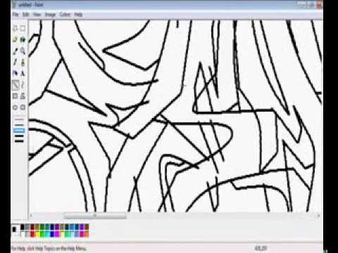 Graffiti Speed Paint Art ÉSMaticx mit MS Paint