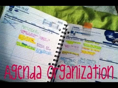 Back To School K Agenda Organization  Youtube