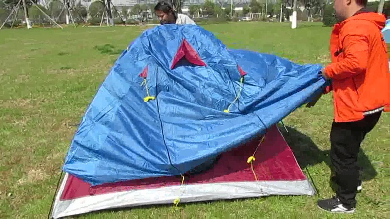 How to Set Up a 3 Man Double Layers Iglu C&ing Tent/Igloo Tent & How to Set Up a 3 Man Double Layers Iglu Camping Tent/Igloo Tent ...