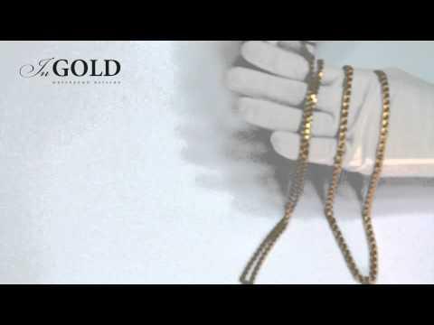 Ingold.ua. Золотая цепь плетение Бисмарк