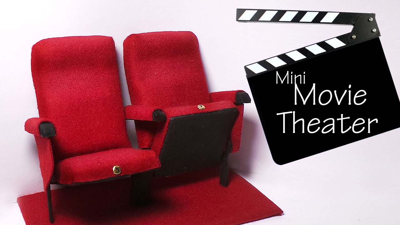 Miniature Movie Theater Chairs Tutorial Polymer Clay Mixed Media Yo