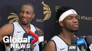 """Toronto Raptors: Serge Ibaka happy to be back; Terence Davis says team """"expects to win"""""""