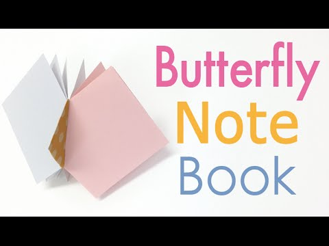 Origami Paper Butterfly Note Book Notebook Diysquare Paper