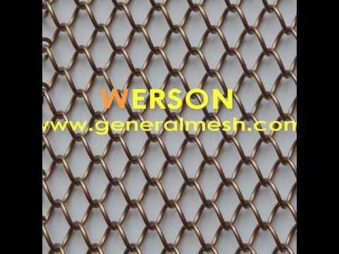 generalmesh Woven Wire Drapery,Wire Curtain, Drapery Hanging ,METAL DRAPERY