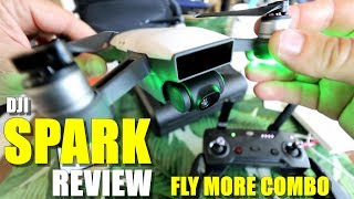 DJI SPARK Fly More Combo Review - Part 1 -  [Unboxing, Inspection, Updating, Mavic Comparison]