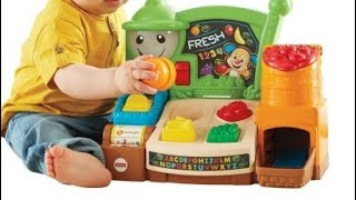 Fisher-Price Laugh & Learn Fruits & Fun Learning Market:Colours,Shapes,the Alphabet,Countings(9-36M)