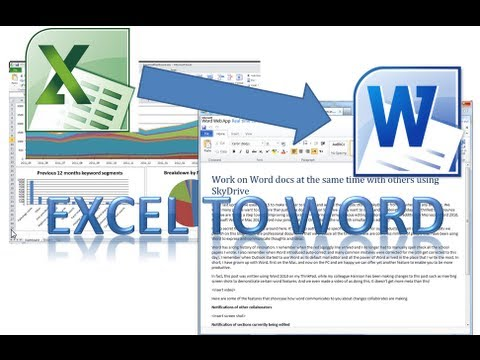 How to Write on Word from Excel using VBA from YouTube · Duration:  12 minutes 18 seconds
