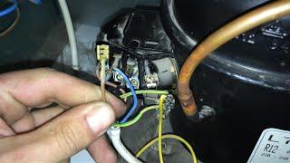 Arrancar manualmente motor congelador-nevera.[Manually start an engine of a freezer or refrigerator]