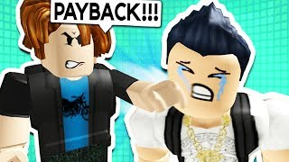 NOOB GETS REVENGE ON RICH KID IN ROBLOX