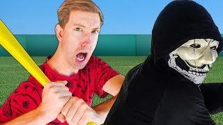 SPY NINJAS BATTLE HACKERS in BASEBALL CHALLENGE All Sports Trick Shots for Daniel's Secret Files