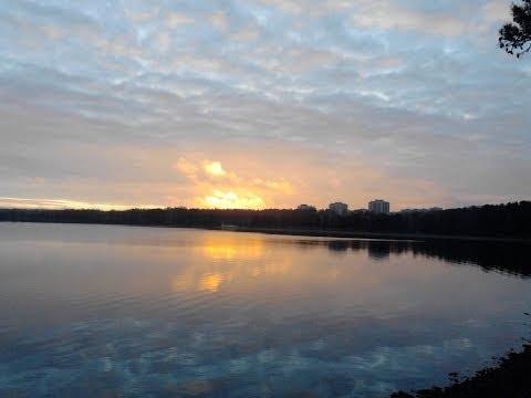 Утро в Снежинске. Берег озера Синара - 29 октября 2013