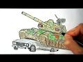 Tank nece cekilir(Ehedov Elnur)Как нарисовать Танк_How to Draw a Tank