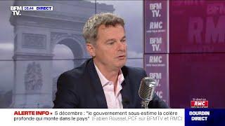 """""""Le gouvernement sous-estime la colère profonde qui monte en France"""" estime Fabien Roussel"""