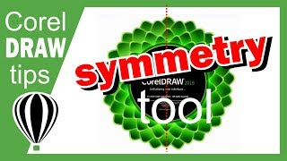 Symmetry drawing mode CorelDraw 2018