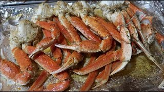 HOW TO MAKE OVEN BAKED DUNGENESS AND SNOW CRAB + BUTTER SEASONING!!